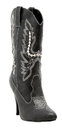 Morris Costumes HA-128BK9 Boots Cowgirl Bk Sz 9