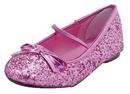 Morris Costumes HA-149CPKLG Flat Ballet Glitter Ch Pink Lg