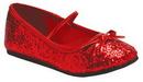 Morris Costumes HA-149CRDLG Flat Ballet Glitter Ch Red Lg