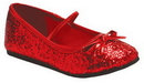 Morris Costumes HA-149CRDSM Flat Ballet Glitter Ch Red Sm