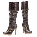 Morris Costumes HA-150BK6 Boot Knee High Black Size 6