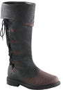 Morris Costumes HA-161BNMD Captain Boot 110 Br Md Lace-Up