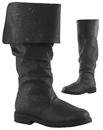 Morris Costumes HA-164BKLG Robin Hood Boots 100 Black Lg