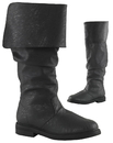 Morris Costumes HA-164BKXL Robin Hood Boots 100 Black Xlg