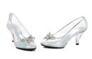 Morris Costumes HA-305C8 Shoes Glass Slipper Sz 8