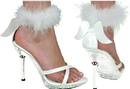 Morris Costumes HA-50WTLG Shoe Sexy Angel Wht Wmn Lg