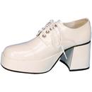 Pleasers HA-54WPMD Shoe Platform Wht Pat Men Md