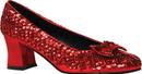 Morris Costumes HA-56RDMD Shoe Sequin Rd Womens Md 8