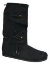 Morris Costumes HA-58BKMD Boot Renaissc Blk Tall Md