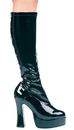 Morris Costumes HA-5BK7 Boot Chacha Black Size 7