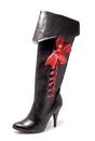Morris Costumes HA-68P8 Boot Pirate W Ribbons Size 8