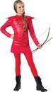 Morris Costumes IC-18088L Warrior Huntress Red Tween 12-