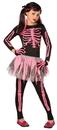 Morris Costumes LF-3146CMD Skeleton Punk Pink Child 8-10