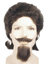 Morris Costumes LW-217DBNGY Buffalo Bill Wig Brown Grey 51