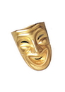 Morris Costumes MA-803 Comedy Mask Gold
