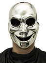 Morris Costumes MR-031319 Sinister Ghost Silver Mask