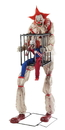 Morris Costumes MR-124654 Cagey Clown With Clown In Cage
