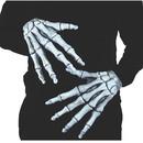 Morris Costumes MR-156000 Hands Ghostly Bones