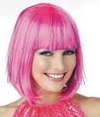 Morris Costumes MR-177049 Wig Pink Shimmering Bob