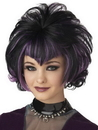 Morris Costumes MR-177146 Wig Goth Flip Black Purple