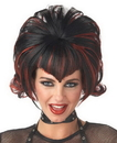 Morris Costumes MR-177147 Wig Goth Flip Black Burgundy