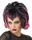Morris Costumes MR-177148 Wig Goth Flip Black Pink