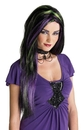 Morris Costumes MR-177304 Rebel Witch Wig Blk/Pur/Green