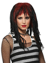 Morris Costumes MR-177356 Wig Demure Dreads Red/Black
