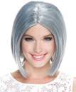 Morris Costumes MR-177854 Frosted Midi Bob Smoky Grey Wg