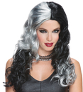 Morris Costumes MR-177888 Wicked Witch Grey Black Wig