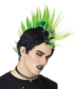 Morris Costumes MR-178001 Wig Green Punk Rocker