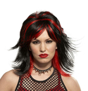 Morris Costumes MR-179512 Wig Rocker Unisex Blk/Red