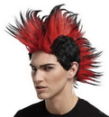 Seasonal Visions MR-179529 Double Mohawk Wig Black Red Bl