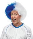 Morris Costumes MR-179576 Sports Fun Wig Blue White