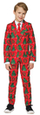 Morris Costumes OS-B007SM Christmas Red Suit Ch Sm4-6