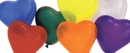 Morris Costumes PA-34AS Balloon 6In Heart Qualatex Ast