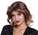 Dreamgirl RL-11695 Wig Disco Feather Med Brn/Dk B