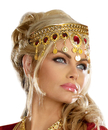 Morris Costumes RL-9516 Headpiece Gold Dripping Rubies