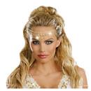 Morris Costumes RL-9520 Headpiece Gold Glittering Rhin