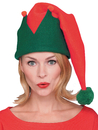 Morris Costumes RU-22027 Elf Hat Long Red And Green