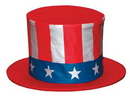 Rubies 57022 Top Hat Collapsible Usa Child