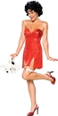 Rubie's RU-888641MD Betty Boop Dlx Short Dress Md