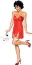 Rubie's RU-888641SM Betty Boop Dlx Short Dress Sm