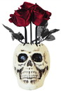 Morris Costumes SS61014 Skull Vase With  Roses
