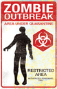 Morris Costumes SS-88105 Metal Sign Zombie Outbreak