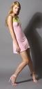 Seven Til Midnight SV-7171PKSM Lace Trimmed Chemise Pink Sm