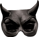Morris Costumes TB25002B Devil Black Latex Half Mask