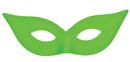 Morris Costumes TI-05GR Harlequin Mask Satin Green