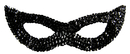 Morris Costumes TI-16BK Cat Mask Sequin Black