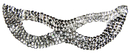 Morris Costumes TI-16SV Cat Mask Sequin Silver